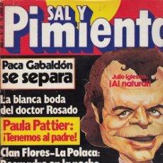 Coleccionismo de Revista Interviú: SAL Y PIMIENTA, SUPLEMENTO SATÍRICO DE INTERVIÚ Nº 39 #. Lote 268841609