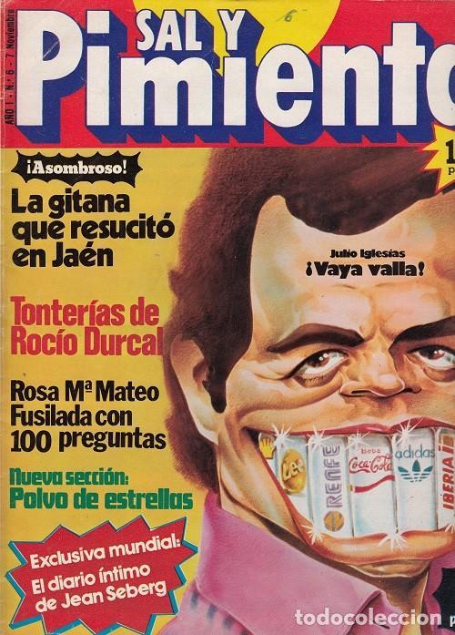 SAL Y PIMIENTA, SUPLEMENTO SATÍRICO DE INTERVIÚ Nº 6 # (Coleccionismo - Revistas y Periódicos Modernos (a partir de 1.940) - Revista Interviú)