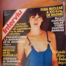 Coleccionismo de Revista Interviú: INTERVIU REVISTA Nº 158- 05- 1979- FUGA NUCLEA- MATANZA EN EL SALVADOR- YOLANDA RIOS. Lote 269733873