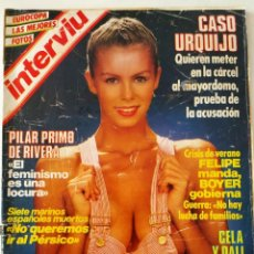 Colecionismo da Revista Interviú: INTERVIÚ 425 CASO URQUIJO JULIO IGLESIAS DALÍ UN DOS TRES MARI TRINI SERRAT LUIS ARRIBAS EUROCOPA 84. Lote 271834948