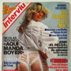 Colecionismo da Revista Interviú: REVISTA INTERVIÚ Nº 426 MARADONA ROSARIO FLORES EL NANI MICHAEL JACKSON VAITIARE MERCEDES MILÁ CHARO. Lote 271835378