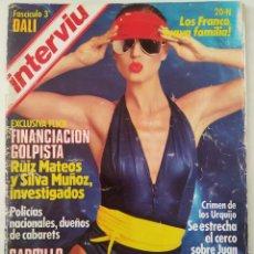 Colecionismo da Revista Interviú: REVISTA INTERVIÚ Nº 445 SALVADOR DALÍ FRANCO RUIZ MATEOS CASO URQUIJO AUGUSTO ALGUERÓ OLGA GUILLOT. Lote 271956723