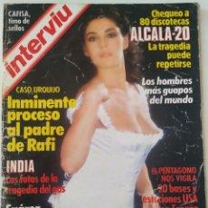 Colecionismo da Revista Interviú: REVISTA INTERVIÚ Nº 448 CHARO LÓPEZ CASO URQUIJO ALCALÁ 20 DALÍ CARMEN SEVILLA LAURA DEL SOL. Lote 271957518