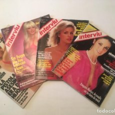 Coleccionismo de Revista Interviú: REVISTA INTERVIU 1983 - AMPARO MUÑOZ -LINDA EVANS -CORINE CLERY -WOODY ALLEN - Nº 347-348 -375 -385. Lote 280279513