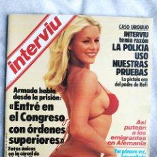 Coleccionismo de Revista Interviú: REVISTA INTERVIU 389 AZAFATAS UN DOS TRES MARISOL SONIA BRAGA ALMODOVAR PEGASO FRANCO JOAN CRAWFORD. Lote 284662928