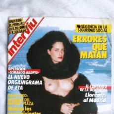 Coleccionismo de Revista Interviú: REVISTA INTERVIU 558 JOHN DE ANDREA LA DOLORES EDUARDO DE INGLATERRA MATIAS PRATS LOLA FLORES. Lote 284663453
