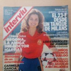 Coleccionismo de Revista Interviú: INTERVIU N.º 305 1982 EICHMANN, ISABELLE ADJANI, RITZA BROWN, CARMELA GARCÍA MORENO. Lote 287835938