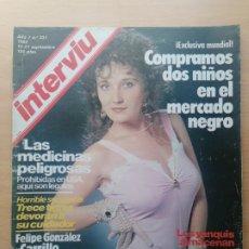 Coleccionismo de Revista Interviú: INTERVIU N.º 331 1982 ROBERTO CANESSA, EL NIÑO DE LAS MONJAS, ROSALÍA DANS, LA TRINCA, PÍA ZADORA. Lote 287836293
