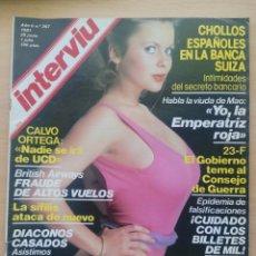 Coleccionismo de Revista Interviú: INTERVIU N.º 267 1981 BÁRBARA BOUCHET, ROBERTO LÓPEZ UFARTE, SIFILIS, RAFAELLA ROSSELLINI. Lote 287842563
