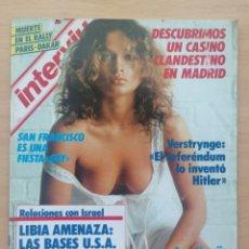 Coleccionismo de Revista Interviú: INTERVIÚ 506 1986 THIERRY SABINE. DULCE NEUS, PLÁCIDO DOMINGO, NACHA POP, LA UNIÓN, VERSTRYNGE. Lote 287844923