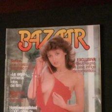 Collectionnisme de Magazine Interviú: BAZAAR Nº 18-1978-PUNK EXPLOITATION-BRIGADAS ROJAS-GAY-SOFICO-RODOLFO VALENTINO-FRANCESC BELLMUNT. Lote 289411118