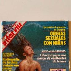 Coleccionismo de Revista Interviú: INTERVIÚ - Nº 582 - JULIO 1987 - VICTORIA ABRIL, LA BURGUESA DESNUDA - VER SUMARIO FOTOGRAFIADO. Lote 290114768