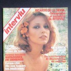 Coleccionismo de Revista Interviú: LOTE DE NUEVE REVISTAS INTERVIU 102-103-104-105-106-107-108-109-110. ABRIL A JUNIO DE 1978. Lote 294930993