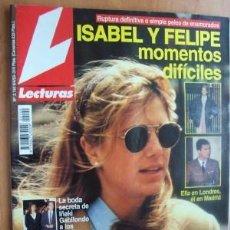 Coleccionismo de Revistas: LECTURAS Nº2140 FECHA 9/4/93 ISABEL Y FELIPE, MOMENTOS DIFICILES ((4 PÁGINAS). Lote 19188675
