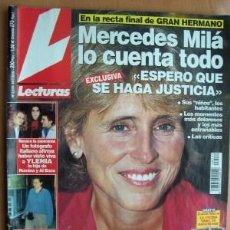 Coleccionismo de Revistas: LECTURAS Nº 2519 FECHA 14/7/00 EN PORTADA- MERCEDES MILÁ: ESPERO QUE SE HAGA JUSTICIA (7 PÁGINAS). Lote 15270492