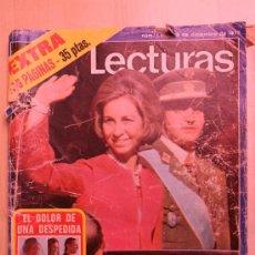 Coleccionismo de Revistas: REVISTA LECTURAS. NUM. 1283. 5 DE DICIEMBRE DE 1975. MUERTE DE FRANCO. Lote 27317268