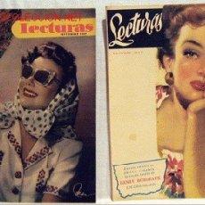 Coleccionismo de Revistas: 2 REVISTA LECTURAS SEPTIEMBRE OCTUBRE 1947 Nº 275 Y 276 CUENTOS NOVELAS REPORTAJES PUBLICIDAD. Lote 1137432