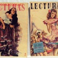 Coleccionismo de Revistas: REVISTA LECTURAS ENERO JUNIO 1950 Nº 303 Y 308 NOVELAS REPORTAJES CINE PUBLICIDAD PÁGINAS FEMENINAS. Lote 1137513