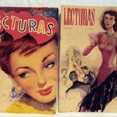 Coleccionismo de Revistas: 2 REVISTA LECTURAS MARZO Y ABRIL 1951 317 318 NOVELAS REPORTAJES CINE PÁGINAS FEMENINAS PUBLICIDAD . Lote 1137958