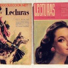Collectionnisme de Magazines: REVISTA LECTURAS ABRIL 1941 Nº 199 NOVELAS REPORTAJES PUBLICIDAD REAPARICIÓN REVISTA DESPUÉS GUERRA. Lote 1138002