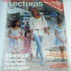 Coleccionismo de Revistas: MARISOL EN LECTURAS DE 20-7-1984 - LEER Y VER. Lote 25226087