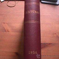 Coleccionismo de Revistas: REVISTA LECTURAS, AÑO 1954 COMPLETO EN UN TOMO. Lote 20674305