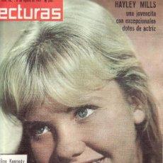 Coleccionismo de Revistas: HAYLEY MILLS EN LECTURAS.Nº 643-AGOSTO 1964.REVISTA ORIGINALES,ESTA Y MAS EN RASTRILLOPORTOBELLO. Lote 25263644