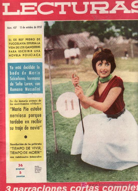 LECTURAS Nº 437-OCTUBRE 1958.COLECCIONISMO EN GENERAL EN RASTRILLOPORTOBELLO (Coleccionismo - Revistas y Periódicos Modernos (a partir de 1.940) - Revista Lecturas)