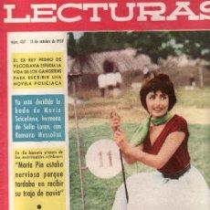 Coleccionismo de Revistas: LECTURAS Nº 437-OCTUBRE 1958.COLECCIONISMO EN GENERAL EN RASTRILLOPORTOBELLO. Lote 23174671