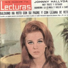 Coleccionismo de Revistas: LECTURAS Nº 756-1966 REVISTAS,POSTALES,PROGRAMAS DE CINE Y MAS EN RASTRILLOPORTOBELLO-EN TENERIFE. Lote 23533036