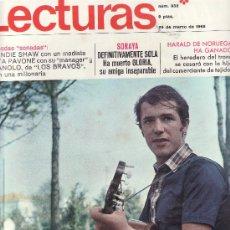 Coleccionismo de Revistas: LECTURAS Nº 832-MARZO 1968.DESDE TENERIFE -COLECCIONISMO EN GENERAL EN RASTRILLOPORTOBELLO. Lote 25617696
