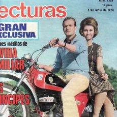 Coleccionismo de Revistas: LECTURAS-Nº1102 JUNIO1973--COLECCIONISMO DESDE TENERIFE EN RASTRILLOPORTOBELLO. Lote 26268718