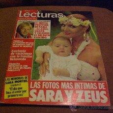 Coleccionismo de Revistas: REVISTA LECTURAS AÑO 1983 PORTADA SARA MONTIEL CON COLECIONABLE MEMORIAS DE SARA MONTIEL. Lote 27455842