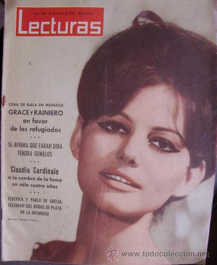 CLAUDIA CARDINALE REVISTA LECTURAS 1963 (Coleccionismo - Revistas y Periódicos Modernos (a partir de 1.940) - Revista Lecturas)