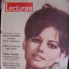 Coleccionismo de Revistas: CLAUDIA CARDINALE REVISTA LECTURAS 1963. Lote 27014991
