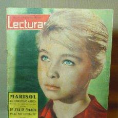 Coleccionismo de Revistas: REVISTA LECTURAS, MARISOL, 22 DE JUNIO DE 1962, HELENA DE FRANCIA. . Lote 17322449