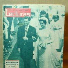 Coleccionismo de Revistas: REVISTA LECTURAS, 3 DE MAYO DE 1963, Nº 576, LA BODA DE ALEJANDRA DE KENT Y ANGUS OGILVY.. Lote 36445499