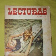 Coleccionismo de Revistas: REVISTA LECTURAS AGOSTO 1956. Lote 18057311