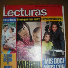 Coleccionismo de Revistas: LECTURAS 5-11-1971 KARINA - MARISOL - ALAIN DELON - ROCK HUDSON. Lote 27326026