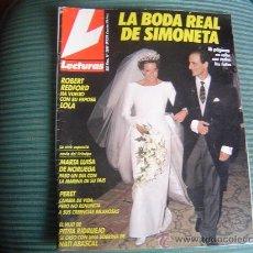 Collezionismo di Riviste: REVISTA LECTURAS PORTADA LA BODA REAL DE SIMONETA. Lote 20008310