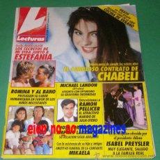 Coleccionismo de Revistas: LECTURAS 2038/1991 CHABELI IGLESIAS~ROMINA POWER~NORMA DUVAL~VICTORIA ABRIL~INES SASTRE~SERGIO DALMA. Lote 27490442