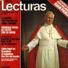Coleccionismo de Revistas: LECTURAS / LA VISITA DEL PAPA JUAN PABLO II / NÚMERO 1.595 DEL 12 NOVIEMBRE 1.982. Lote 26466712