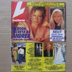Coleccionismo de Revistas: LECTURAS,URI GELLER-ANTONIO BANDERAS-MADONNA-SONSOLES SUAREZ-CARMEN SEVILLA-GRECIA COLMENARES.. Lote 213602858