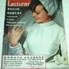 Coleccionismo de Revistas: LECTURAS 28/1/1966- MARISOL EN PERU-ROCIO VESTIDA DE NOVIA-RINGO STAR CON BARBA-LEER GASTOS. Lote 20908726