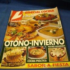 Coleccionismo de Revistas: - LECTURAS ESPECIAL RECETAS DE COCINA OTOÑO-INVIERNO Nº 28. Lote 21128793