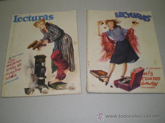 DOS ANTIGUAS REVISTAS LECTURAS - AÑOS 40 (Coleccionismo - Revistas y Periódicos Modernos (a partir de 1.940) - Revista Lecturas)