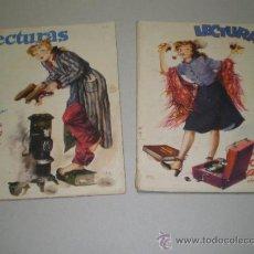 Coleccionismo de Revistas: DOS ANTIGUAS REVISTAS LECTURAS - AÑOS 40. Lote 26288014