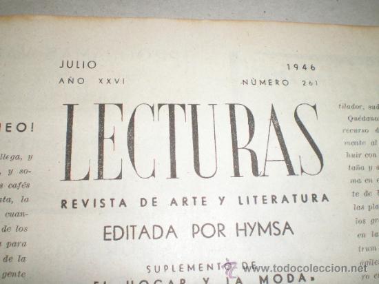 Coleccionismo de Revistas: DOS REVISTAS LECTURAS AÑO 1944 - Foto 2 - 24858849