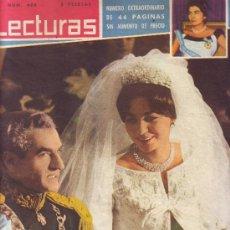Coleccionismo de Revistas: LECTURAS Nº 466, ENERO DE 1960: BODA DE FARAH DIBA. PABLITO CALVO. ANETTE EILY. EISENHOWER. SORAYA.. Lote 22956687
