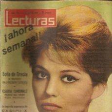 Coleccionismo de Revistas: REVISTA LECTURAS Nº520--6-4-1962---CLAUDIA CARDINALE PARECE NO TENER VIDA PRIVADA. Lote 27088919